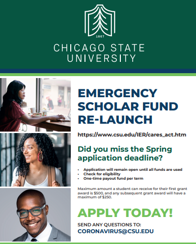 Chicago State University Student Scholar Emergency Fund for Summer 2020