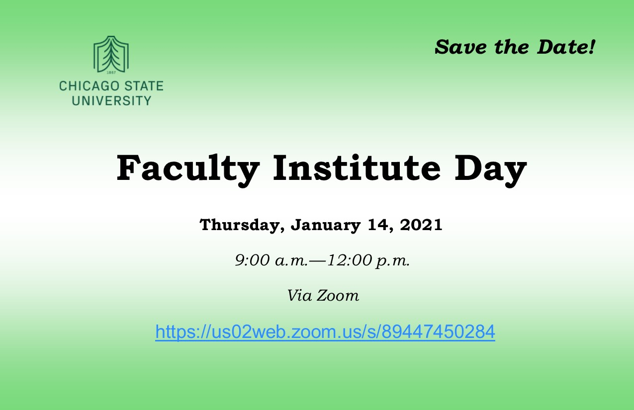Faculty Institute Day