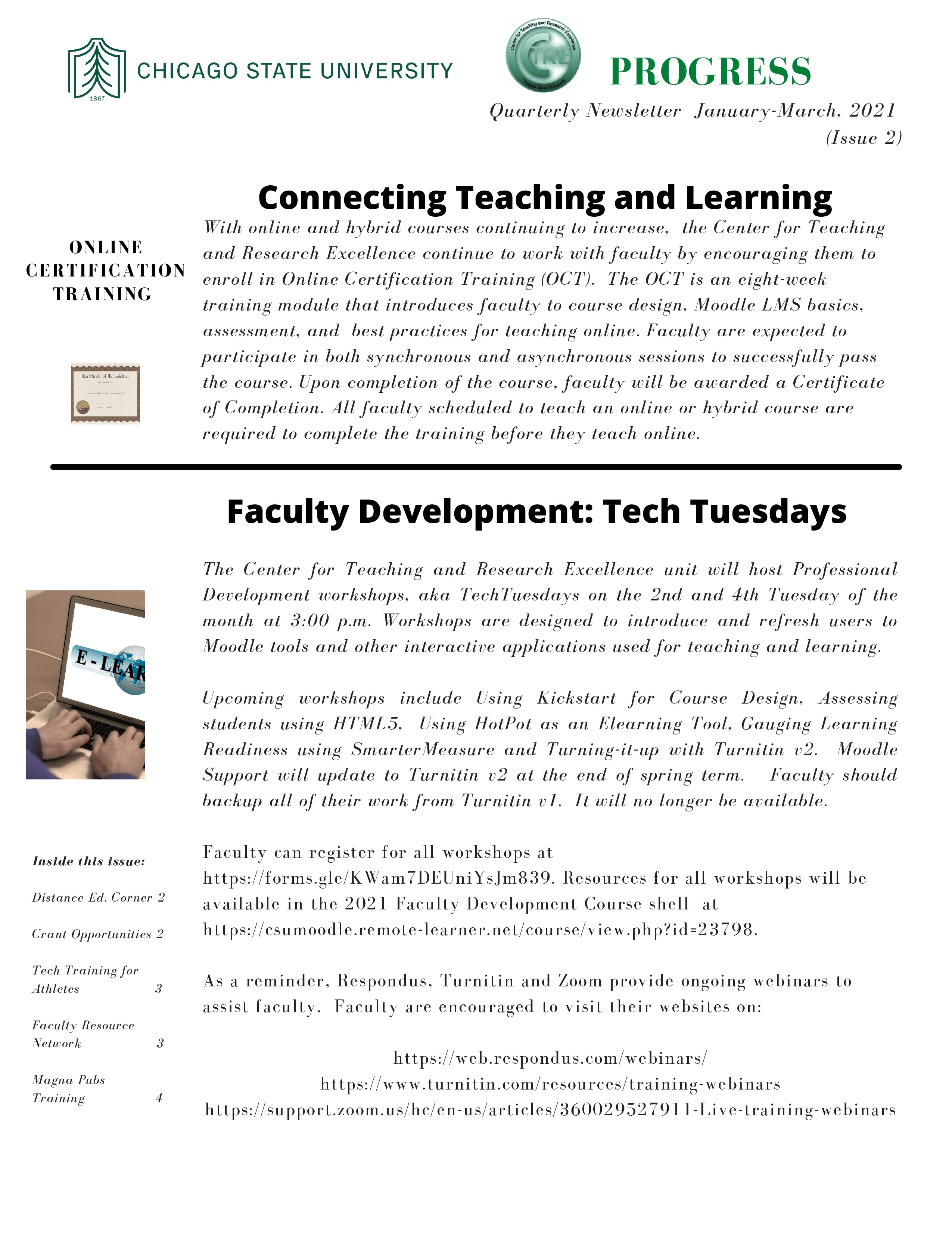 CTRE Newsletter Jan.-Mar. 2021