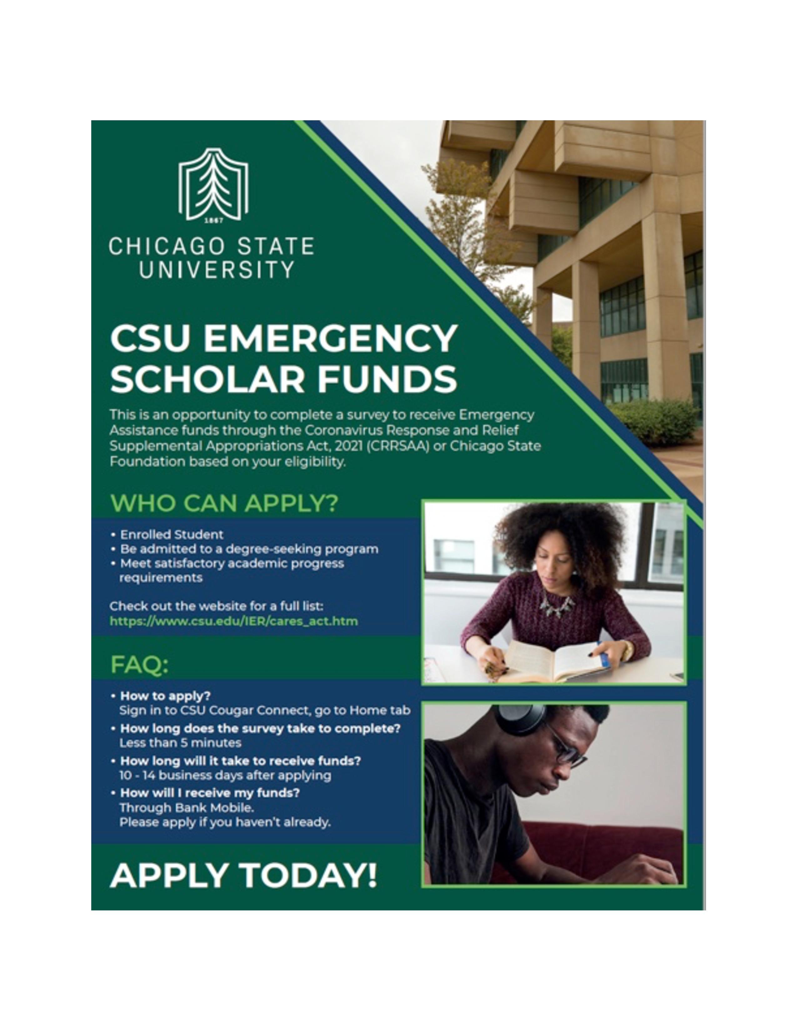 CSU EMERGENCY SCHOLAR FUNDS